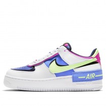 Nike Femme Air Force 1 Shadow (Blanche/Barely Volt) CJ1641-100
