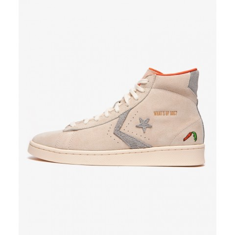 """Converse PRO LEATHER HI """"BUGS BUNNY"""" (Blanche/Blanche) 169223C"""